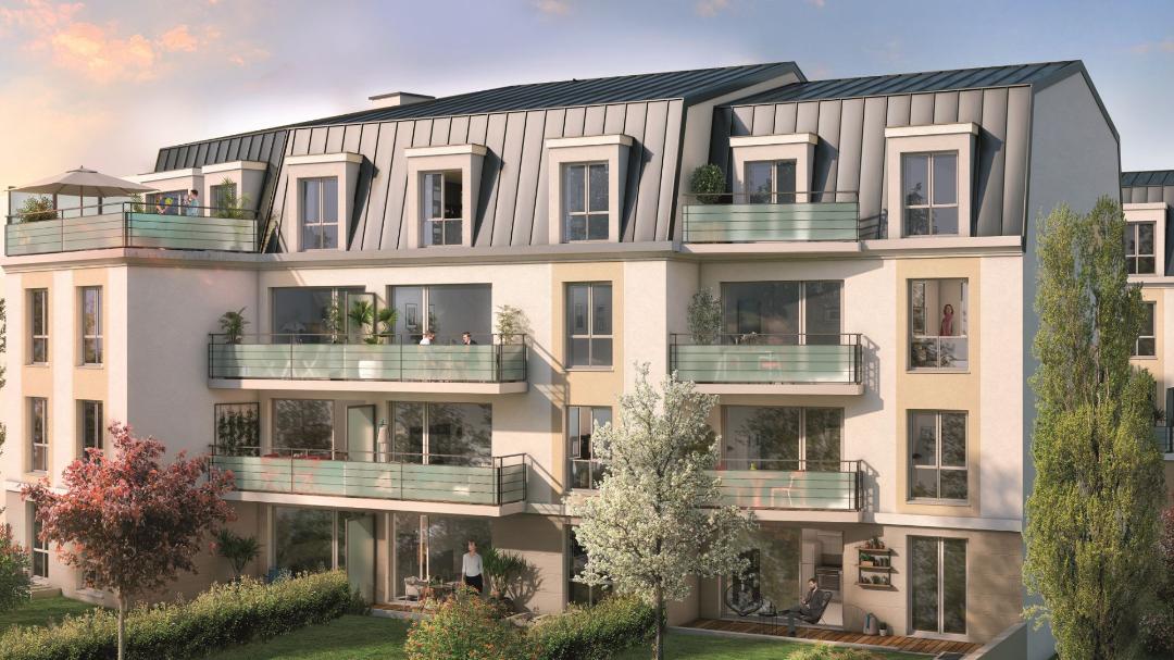 GreenCity Immobilier - Villa Grés - Gretz Armainvilliers - appartements du T1 bis au T3 - vue rue