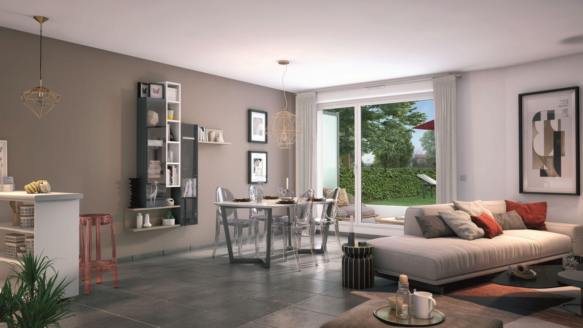GreenCity Immobilier - Villa Grés - Gretz Armainvilliers - appartements du T1 bis au T3 - vue intérieur appartement