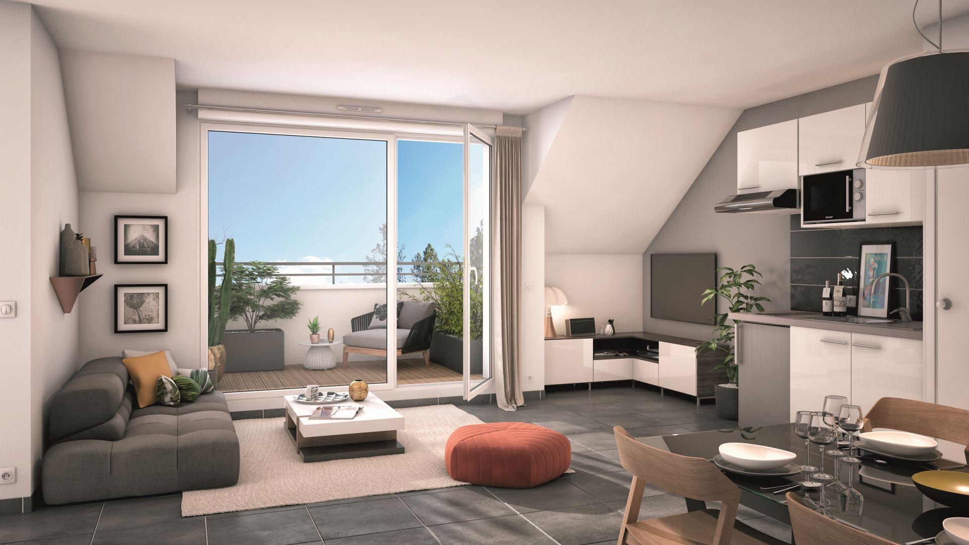 GreenCity immobilier - Villemomble 93250 - Villa Offenbach - Appartements neufs du T1 bis au T4 - vue intérieure