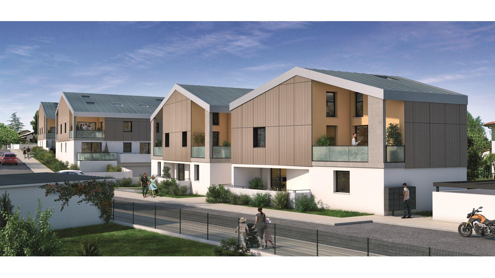 Greencity Immobilier - Résidence Villa Palacio - 31700 Blagnac - appartements neufs du T2 au T4 Duplex