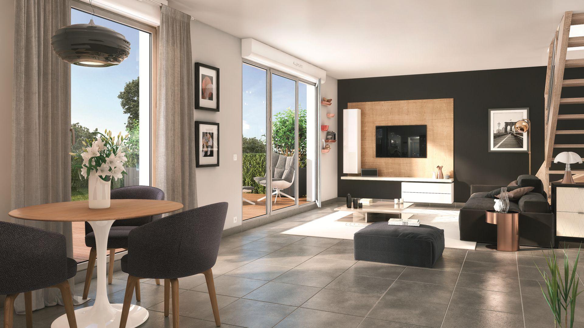 GreenCity immobilier - Toulouse rue des Fontaines - 31300 - résidence Villa Patricia - appartement T2 - T3 - T4 - T5 - vue intérieure