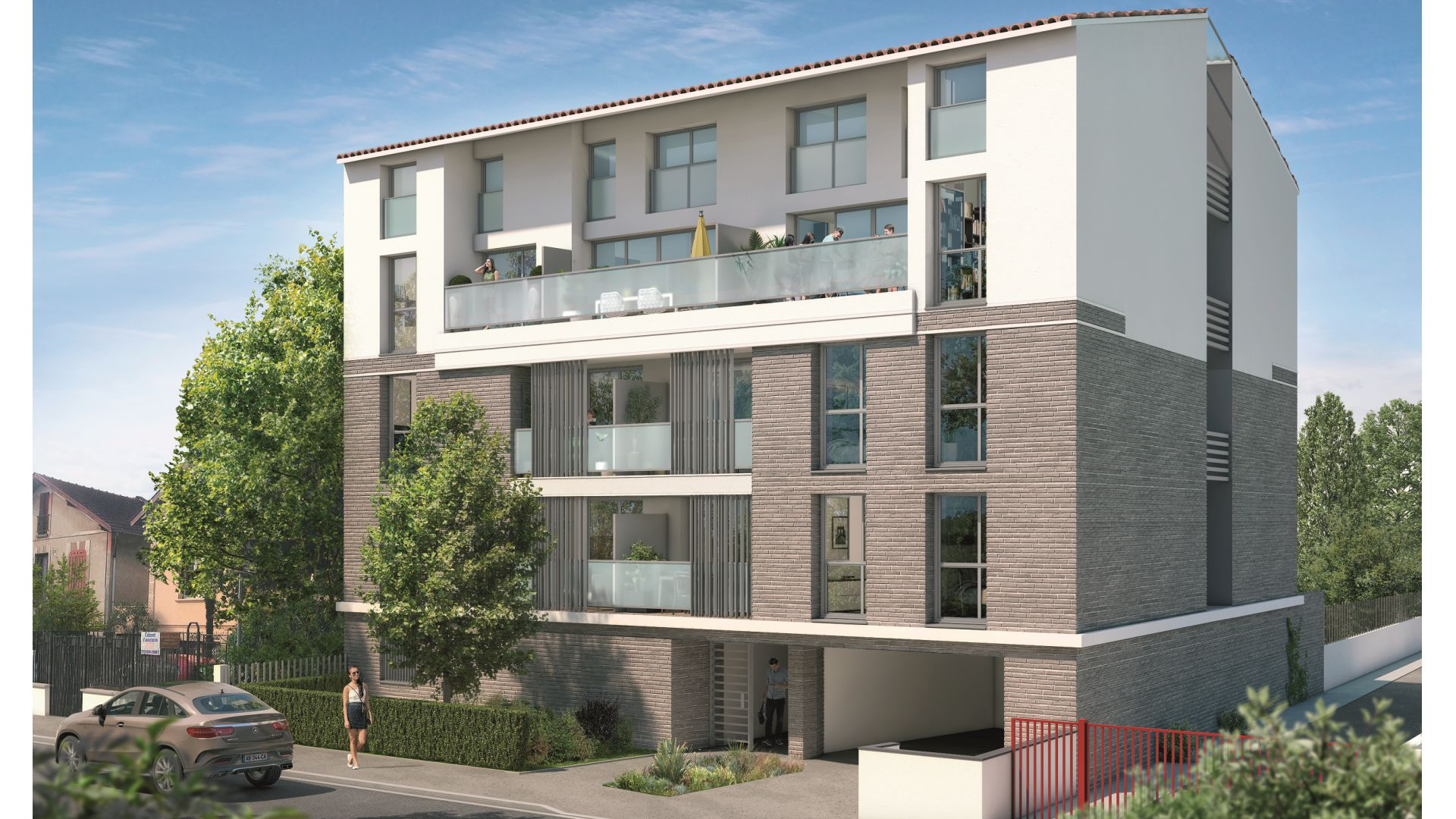 GreenCity immobilier - Toulouse rue des Fontaines - 31300 - résidence Villa Patricia - appartement T2 - T3 - T4 - T5