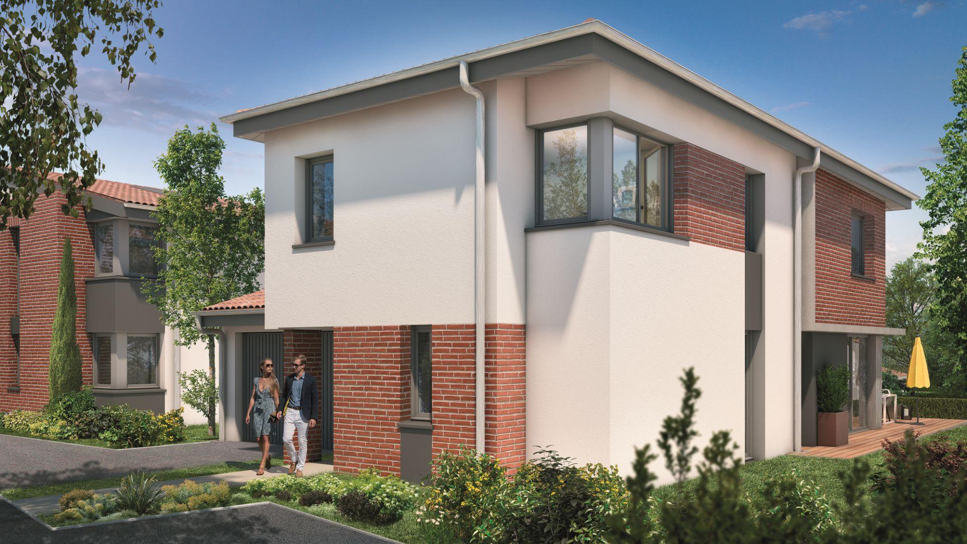 Greencity Immobilier - Villas Valéria - 31320 Auzeville - Villas 4 neuves T6 - appartements neufs T2-T3