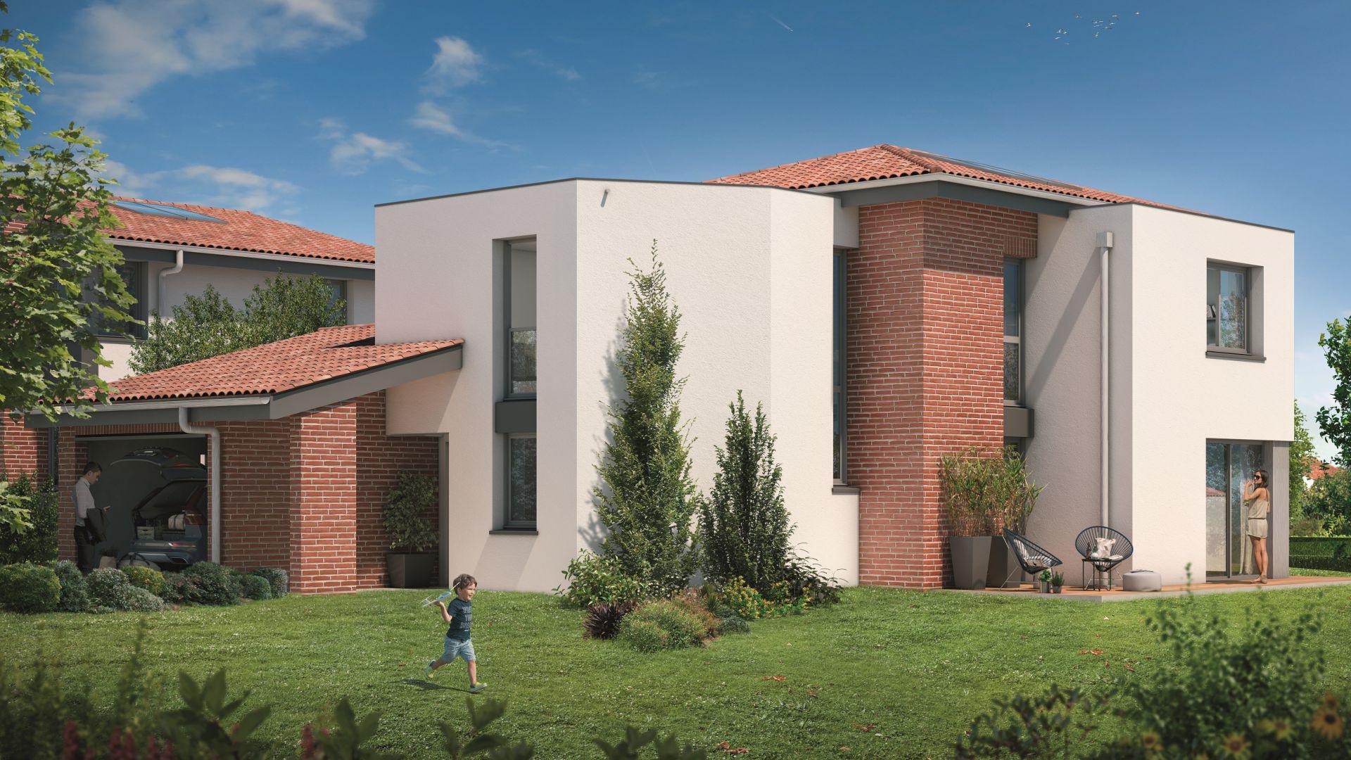 Greencity Immobilier - Villas Valéria - 31320 Auzeville - Villas 6 neuves T6 - appartements neufs T2-T3