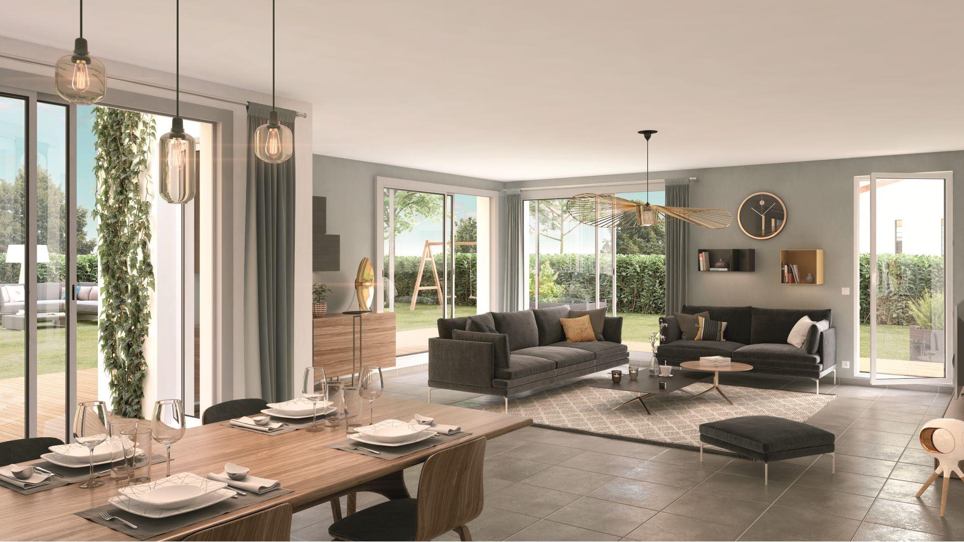 Greencity Immobilier - Villas Valéria - 31320 Auzeville - Villas neuves T6 - appartements neufs T2-T3 - intérieur villa 1