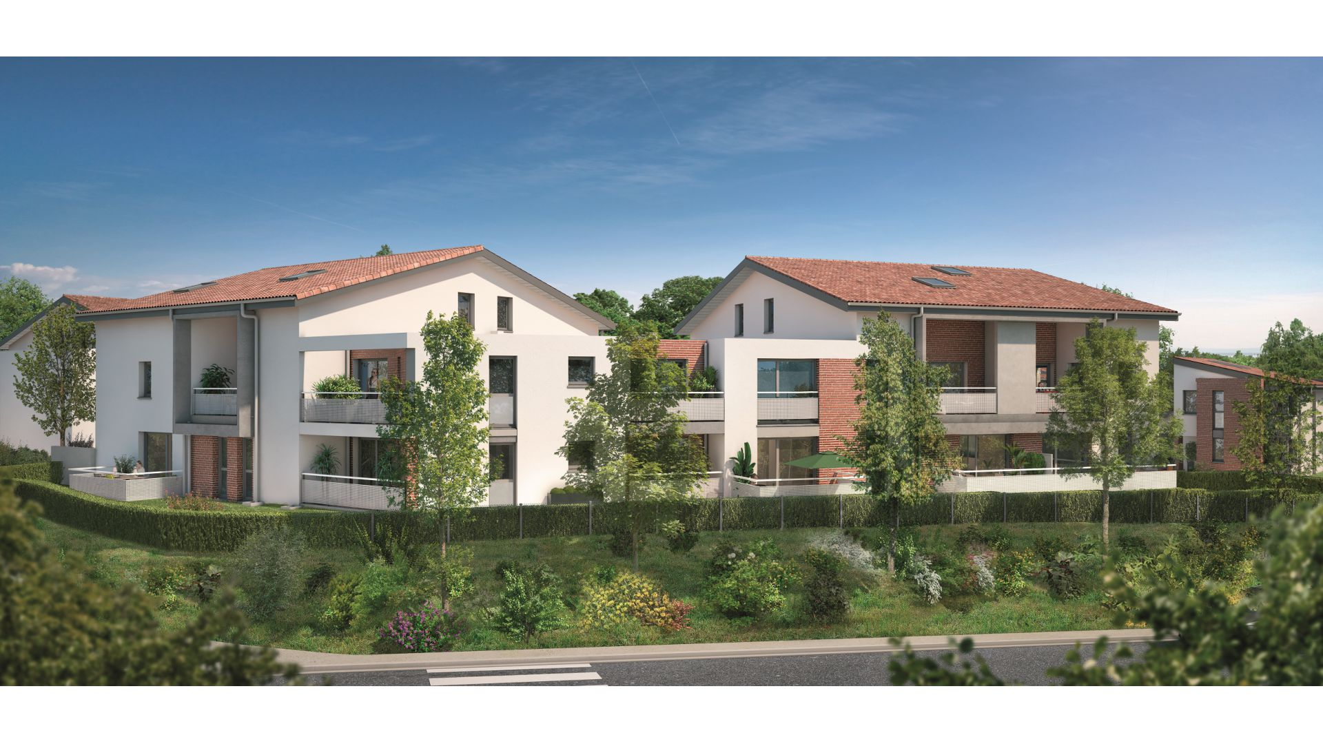 Greencity Immobilier - Villas Valéria - 31320 Auzeville - Villas neuves T6 - appartements neufs T2-T3 - collectif