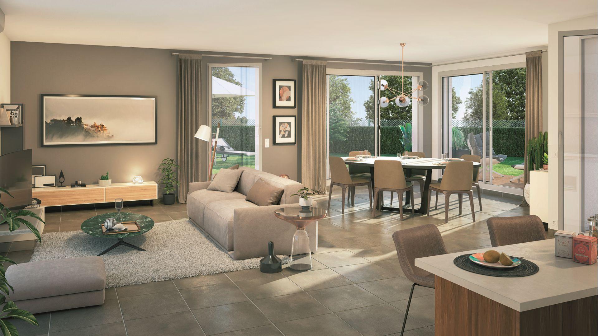 Greencity Immobilier - Villas Valéria - 31320 Auzeville - Villas neuves T6 - appartements neufs T2-T3 - intérieur villa 6